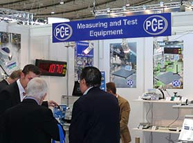 PCE Instruments at technical trade shows