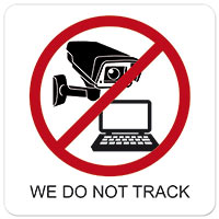 We do not track - no cookies
