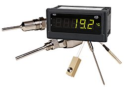 Temperature indicators to process signals from temperature sensors and show them in the display.