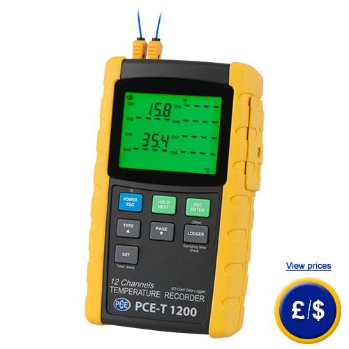 16 Channel Temperature Data Logger Voltage : Channel temperature recorder pce t
