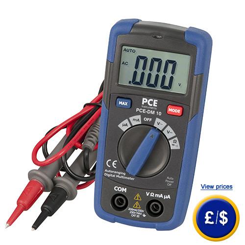 Beginners Multimeter PCE-DM 10