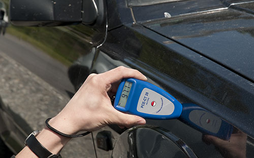PCE-CT 28 (F/N) coating thickness meter / gauge: determining the