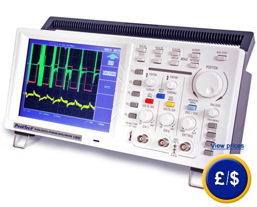 Digital Oscilloscope Software : Digital tabletop oscilloscope pkt