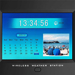 digital weather station with picture frame viewer calendar - Wireless Digital Picture Frame