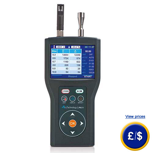 Handheld Laser Particle Counter P611