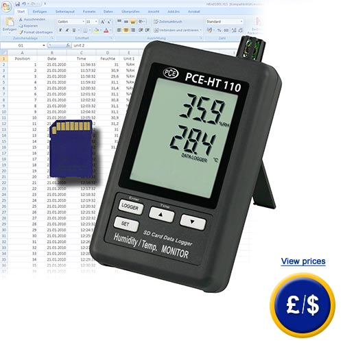 Relative Humidity Meter : Thermal humidity meter pce ht