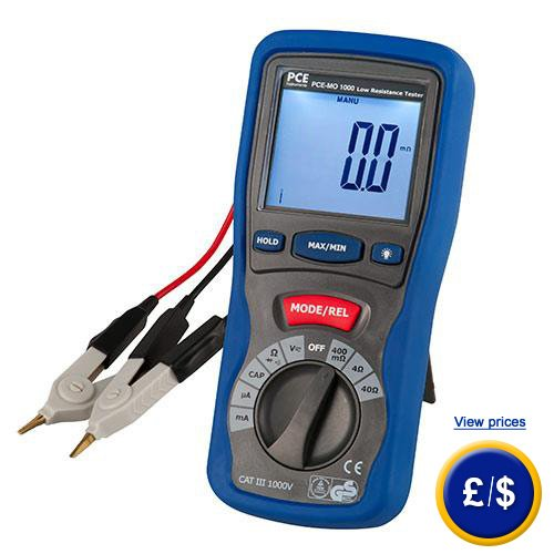 Ohmmeter To Measure Ohms : Micro ohm meter pce mo