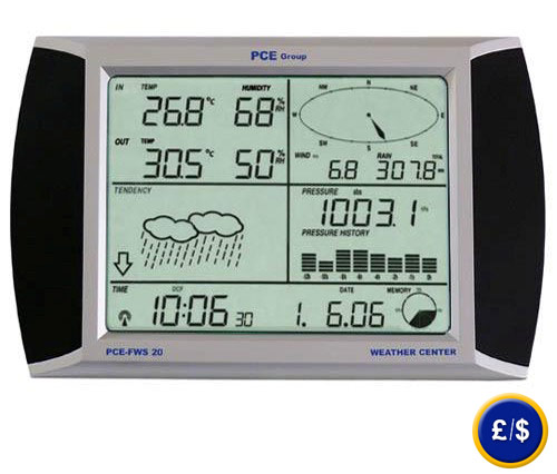PCE-FWS 20 Weather Station with touch screen